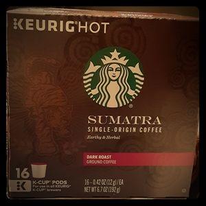 Starbucks dark roast k cups 16 pods